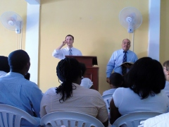 Preaching at Great Commission Baptist Church
