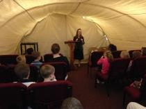 Stephanie teaching at Maranatha Baptist Church