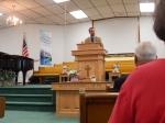 Pastor Langdon at Fellowship Baptist in Emlenton, PA