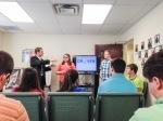 Teaching the teens at Joy Baptist